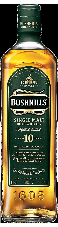 Botella Bushmills 10 años