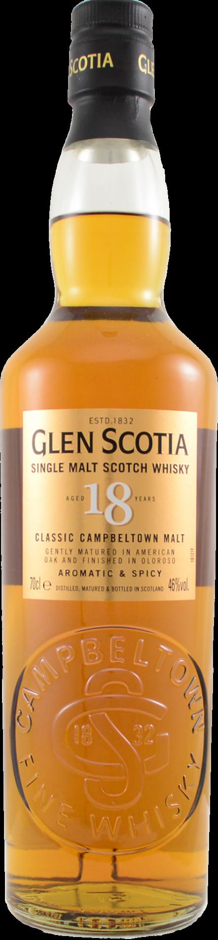 Botella Glen Scotia 18 años