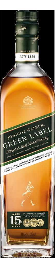 Botella Johnnie Walker Green Label