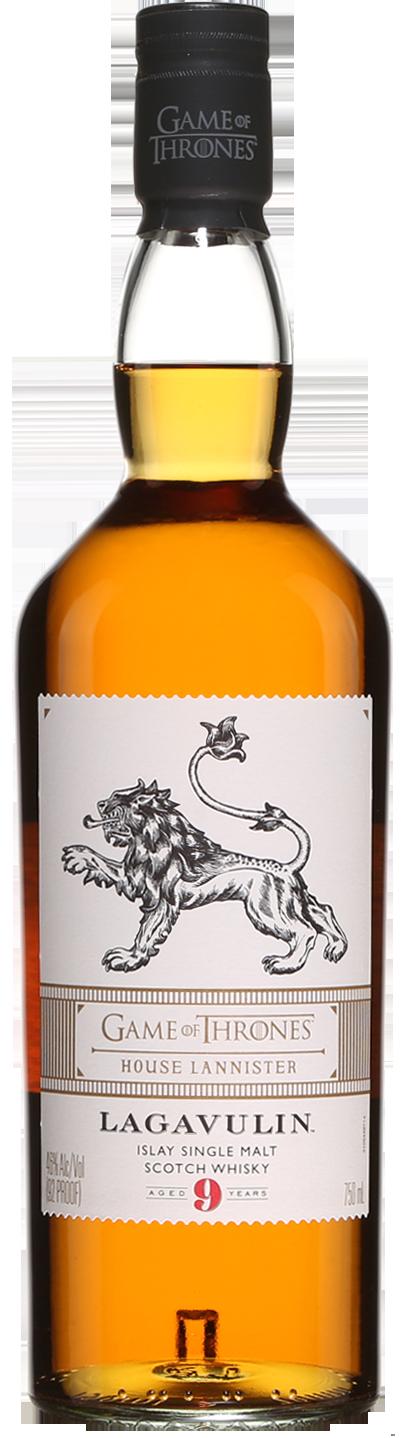 Botella Lagavulin 9 años - Edición Juego de Tronos Casa Lannister