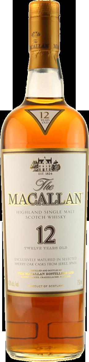 Botella Macallan 12 años Sherry Oak