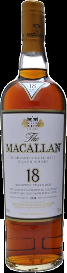 Botella Macallan 18 años Sherry Oak