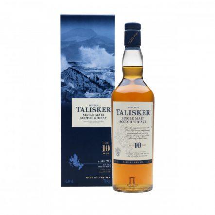 Talisker 10 años con caja