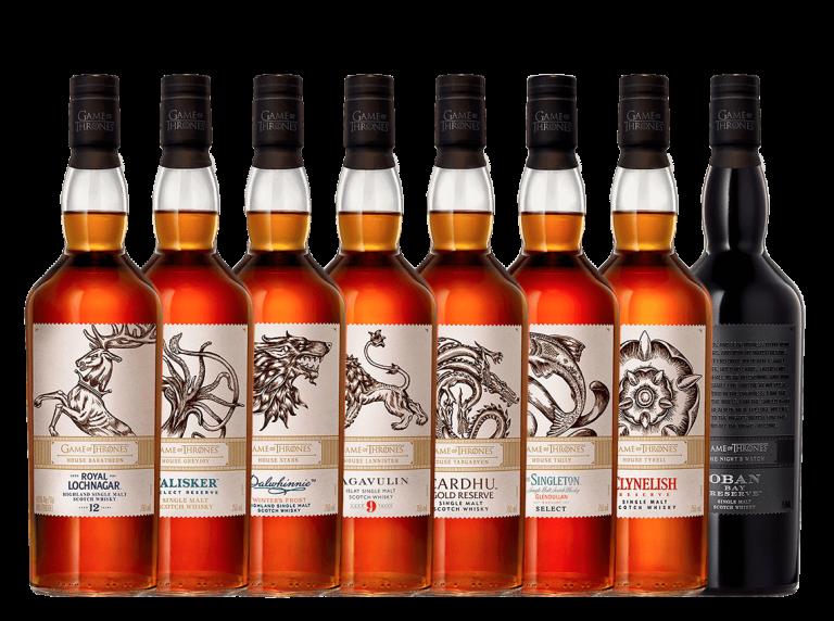 Whisky Juego de Tronos botellas