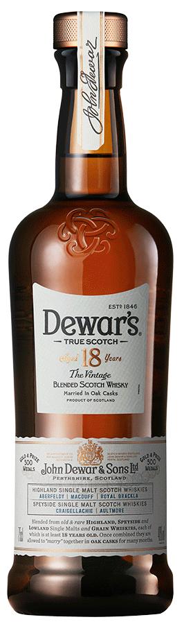 Botella Dewar's 18 años