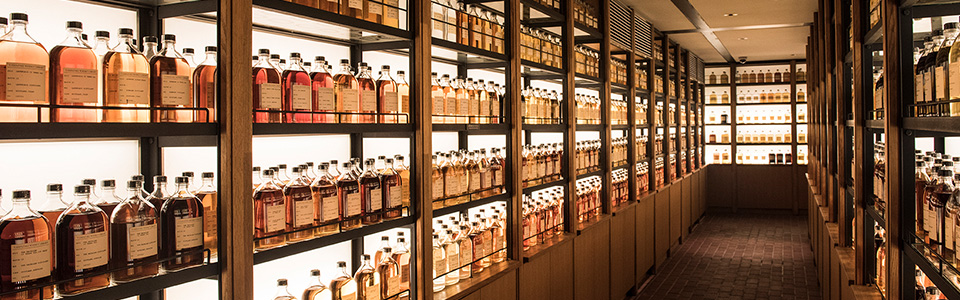 Whisky Library en el Yamazaki Whisky Museum